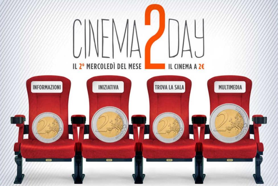 Con cinema2day al cinema con due euro ogni secondo mercoledì del mese