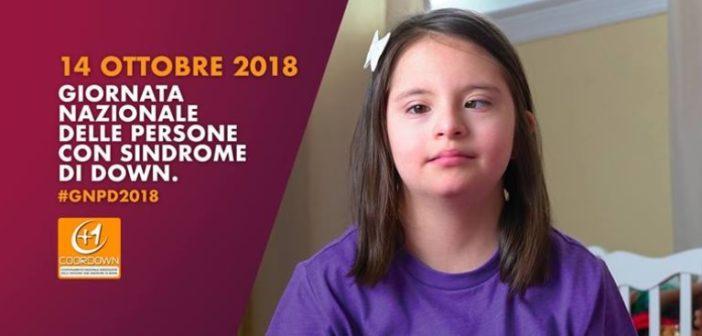 Domenica 14 ottobre Giornata nazionale delle persone con sindrome di Down