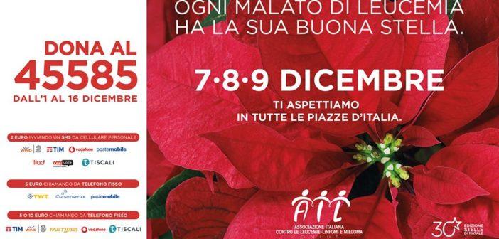 Dal 7 al 9 dicembre le Stelle di Natale Ail, numero solidale 45585