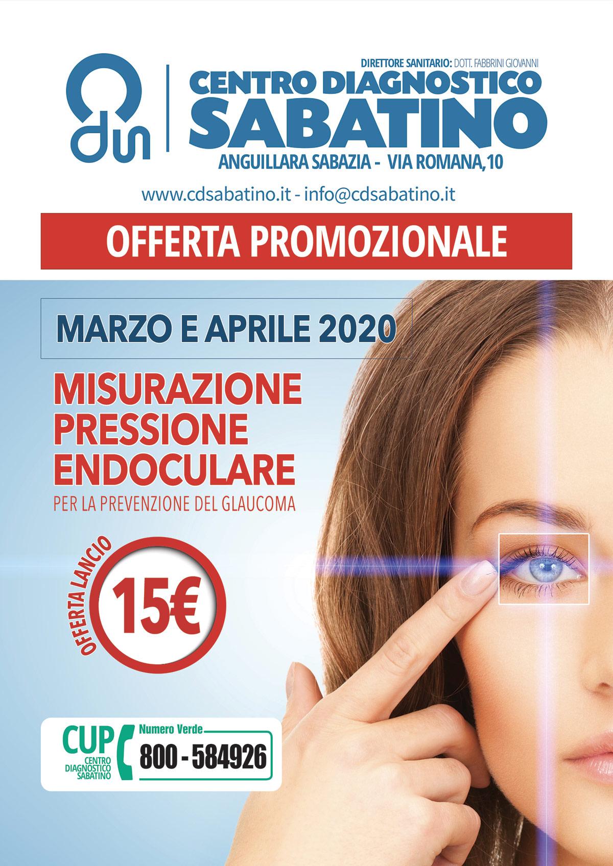 """""""promozione misurazione pressione occhi prevenzione glaucoma"""