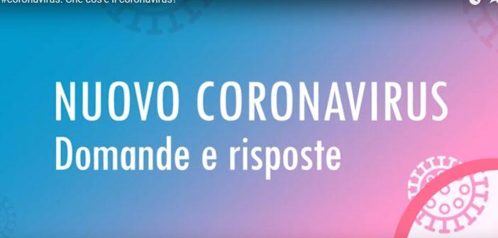 Coronavirus, quattro video informativi del Ministero della Salute
