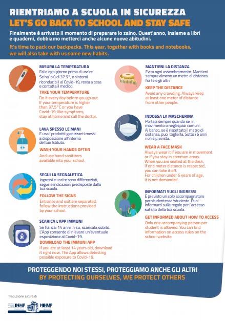 Poster Rientriamo A Scuola In Sicurezza Traduzione In Cinque Lingue